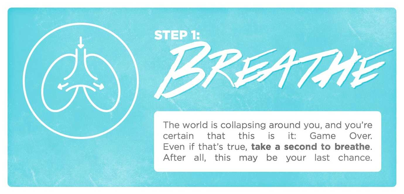 When things go wrong, step 1: breathe.