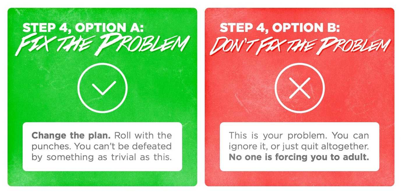 When things go wrong, step 4: fix the problem (or don't).