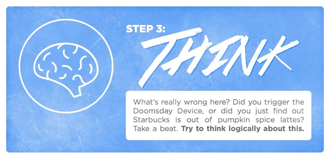 When things go wrong, step 4: think.