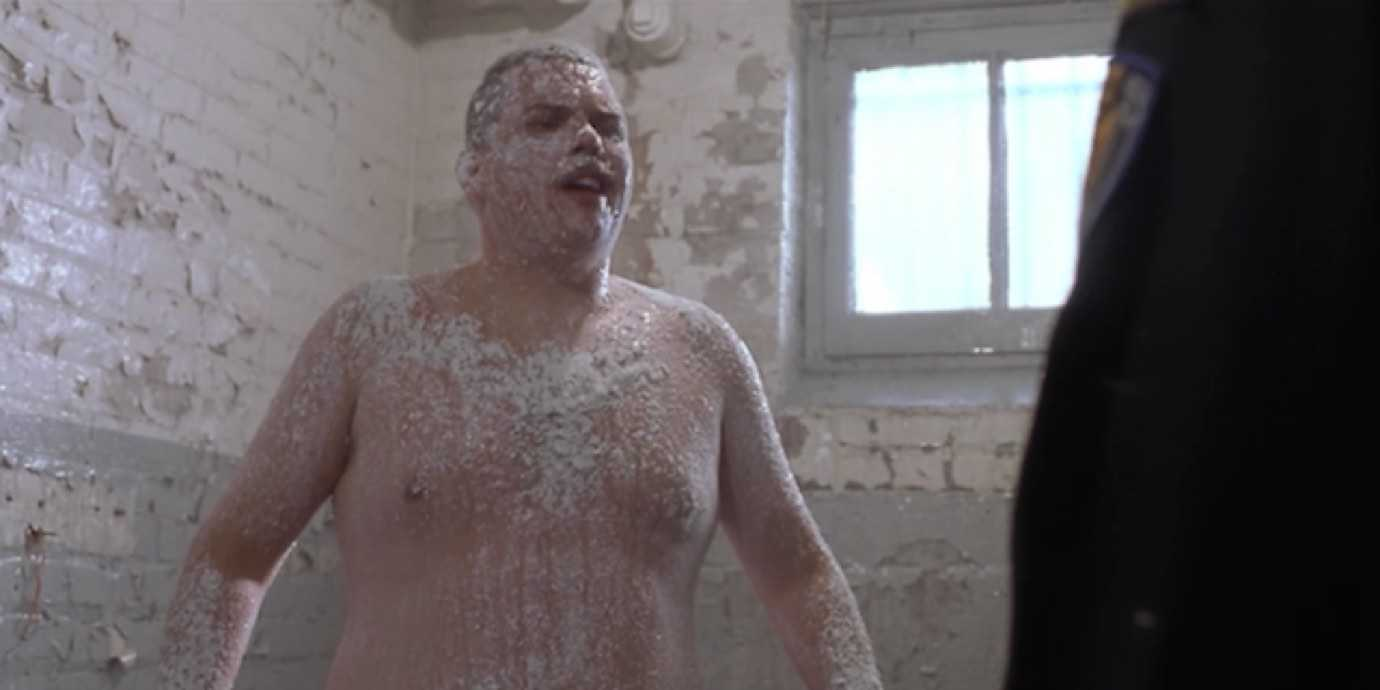 "Farva from Super Troopers being ""deloused"" with powdered sugar."