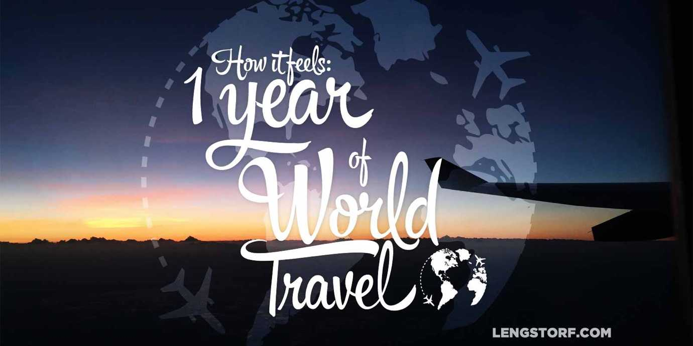 One year of world travel.